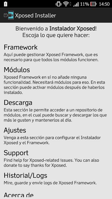 Instalar Xposed framework para Asus Zenfone 2 (ZE551ML y ZE550ML) con Android 5.0