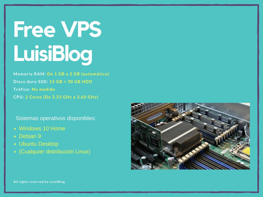 VPS Windows o Linux GRATIS con LuisiBlog 1