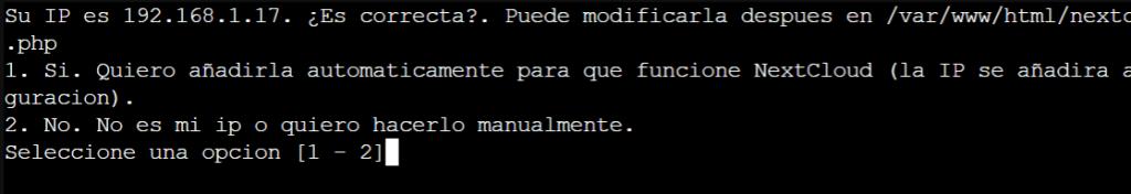 Instalar Nextcloud 1