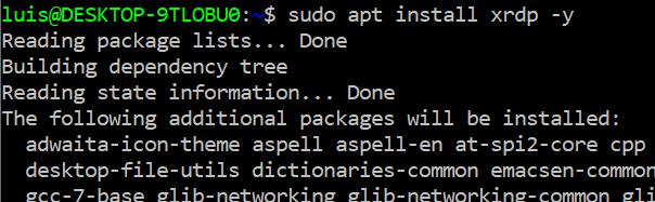 RDP en Raspberry Pi (WINDOWS↔LINUX) 2